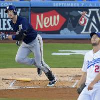 Brewers beat ace Kershaw