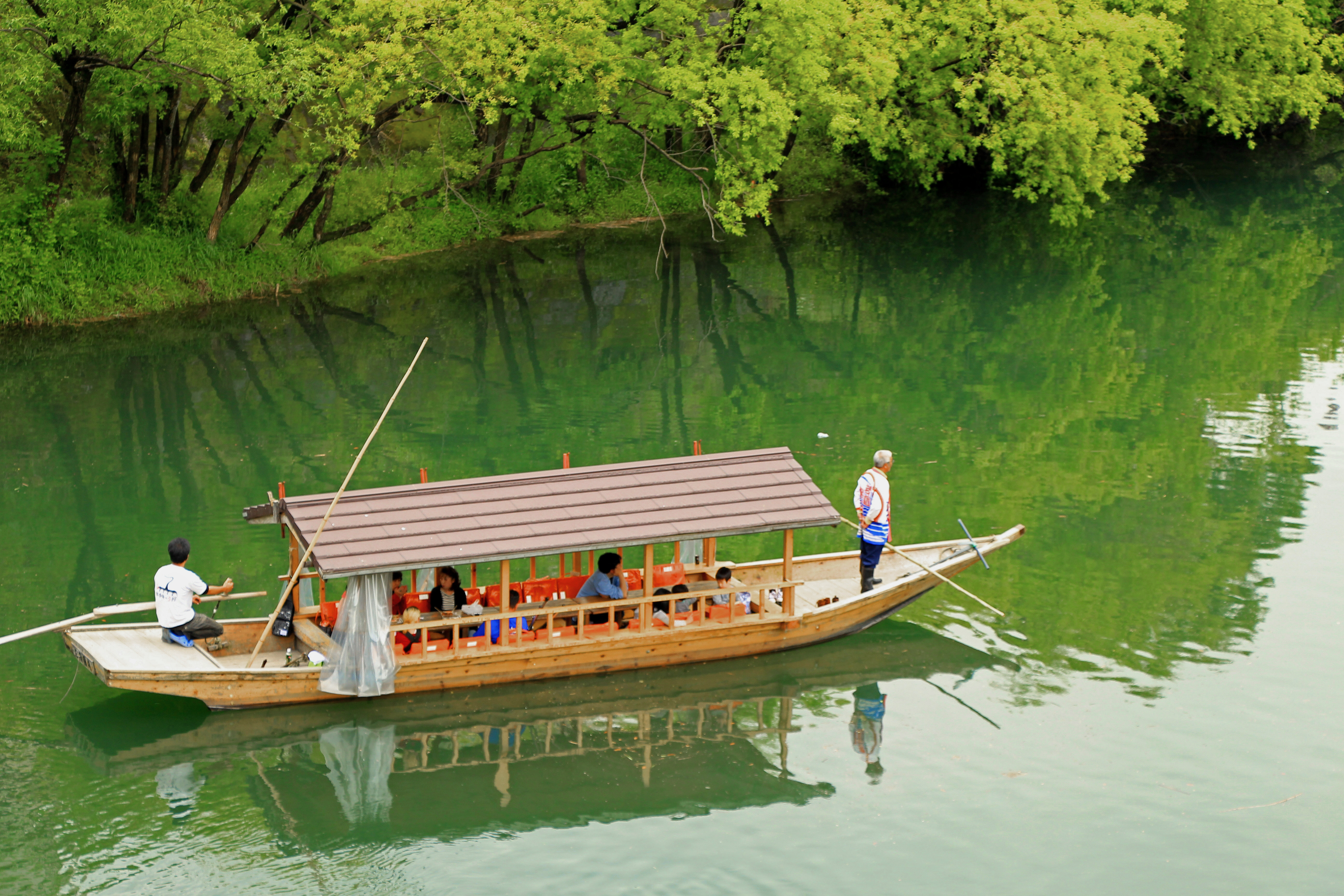 travelling train and small river boats Travelling by train is slower than by plane,  on board large ships and small river boats people can visit foreign countries and different places of interest within.