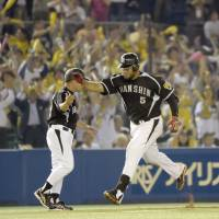 Out on the prowl: Dominican slugger Mauro Gomez is having a major impact for the Hanshin Tigers in his first season in Japan. | KYODO