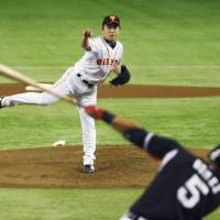 Sawamura fires two-hitter against Tigers