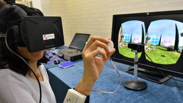 Japanese firm showcases 'touchable' 3-D technology