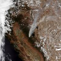 Northern California wildfire shows explosive growth