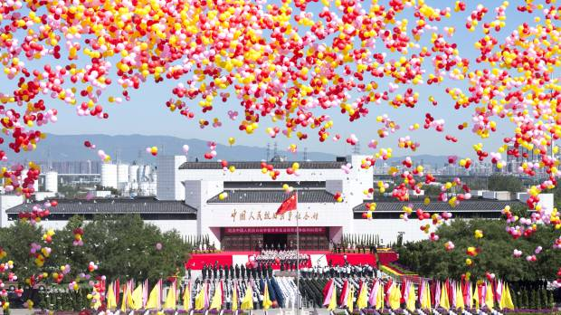 China's leaders inaugurate new Victory Day recalling Japan's wartime defeat