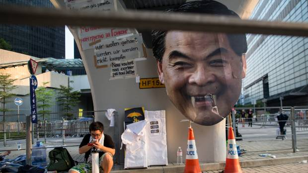 Pro-democracy protesters ignore Hong Kong leader's call to end demonstrations