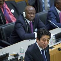 Abe vows to work against 'war culture'