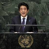 Abe cautious on U.S.-led airstrikes