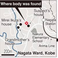 Neighbors of slain Kobe girl express shock and anger; ID card led police to suspect