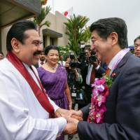Abe, Sri Lanka's Rajapaksa agree on plan to boost maritime security