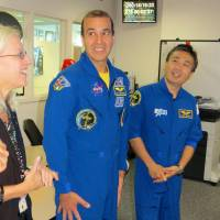 Astronaut Wakata visits NASA to monitor progress on rain satellite network