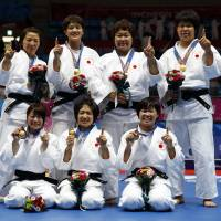 Japan women win gold in inaugural judo team competition