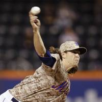 DeGrom fans first eight batters to tie rare MLB mark