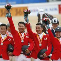 Japan claims silver in team equestrian jumping