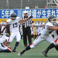 Tezuka field goal puts Keio University Unicorns ahead for good against Meiji University Griffins