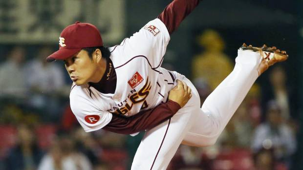 Eagles' Norimoto throws three-hit shutout