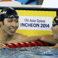Hagino completes golden treble at Asian Games