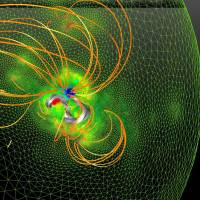 'Twisted rope' of charged particles may provide clue to dangerous solar storms