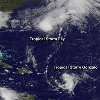 Tropical Storm Gonzalo sweeps into Caribbean, gains strength