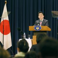 Abe says he hopes to hold more talks with Xi