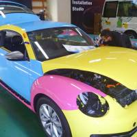Automobile wraps put new spin on paint jobs