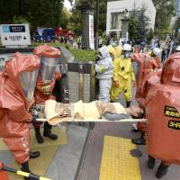 Nerve gas attack training drill held at Hibiya Station