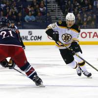 Bruins top Blue Jackets in shootout