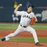 Maeda handcuffs MLB stars as Samurai Japan wins Game 1