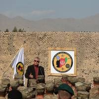 Hagel visits Afghan outpost serving role in U.S. exit strategy out of its longest war