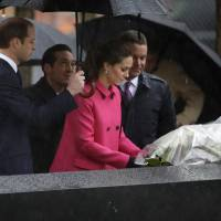 U.K. royals William, Kate pay respects at 9/11 memorial in New York