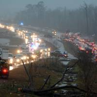Severe storms slam U.S. South, killing at least four