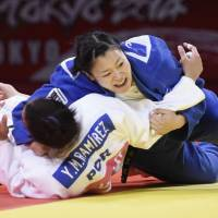 Inamori prevails against Asahina for 78-kg title at Grand Slam Tokyo