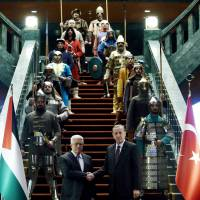 Erdogan's guards: now clad in chain mail