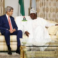 Kerry in insurgency-wracked Nigeria to warn against postelection violence