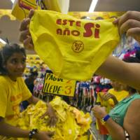 With colored undies and potatoes, Latin Americans prepare for 2015