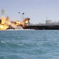 Fake U.S. aircraft carrier the target in latest Iranian drills