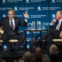 'My own man' Jeb Bush hits Obama on foreign policy, admits 'mistakes' made in Iraq on his brother's watch