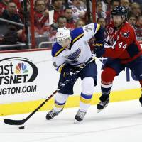 Blues overcome challenges in win