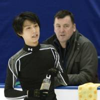 Orser says Hanyu back in training, working on quads