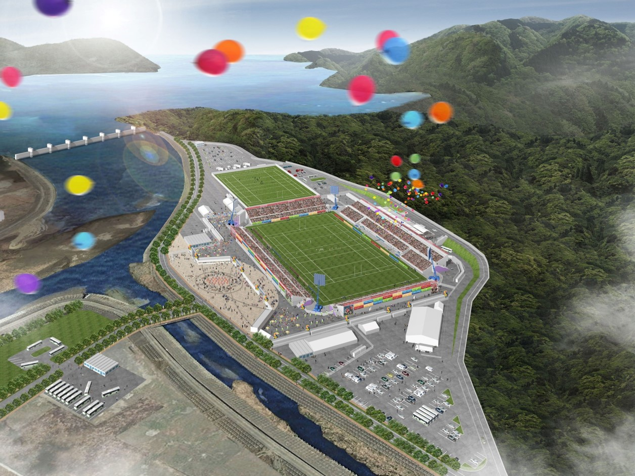 Kamaishi Unosumai Stadium (tentative name) Capacity: 16,187 Address: Nos. 18 and 19 areas of Unosumai-cho, Kamaishi-shi, Iwate Pref. Notes: new stadium, currently under construction.
