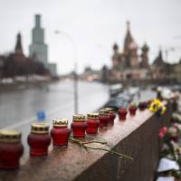 Russian court charges two, detains three others in Nemtsov killing; suspect reportedly commits suicide