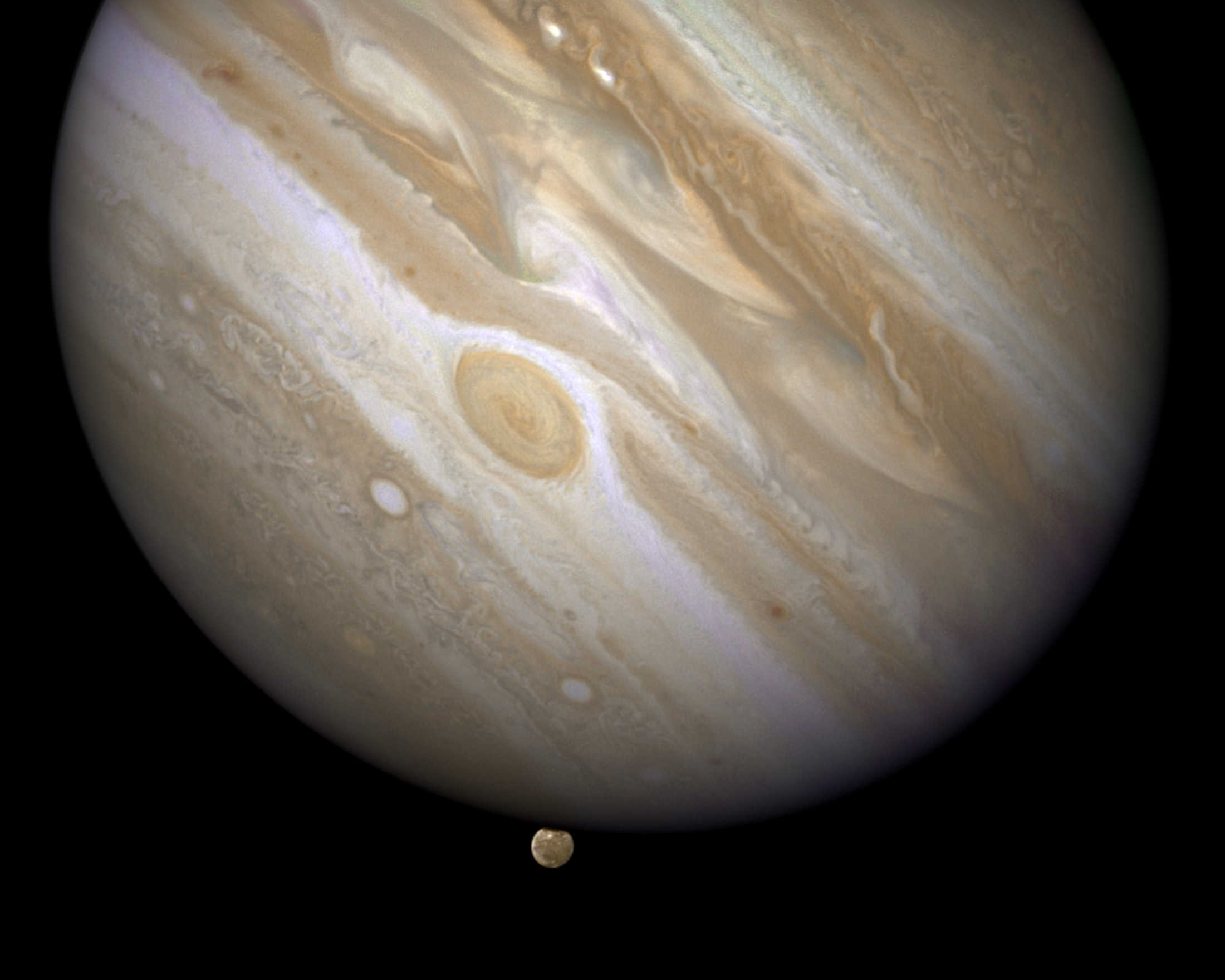 The Planet Jupiter Is Shown With One Of Its Moons
