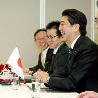 Abe, Ban agree to cooperate over development, climate change