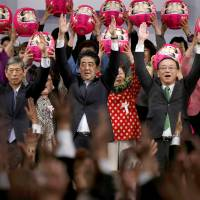 Abe calls for swift security legislation at LDP convention