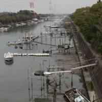 Abandoned boats pose tsunami hazard at Nagoya port