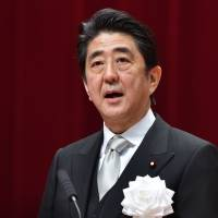 In gaffe, Abe refers to SDF as 'military'