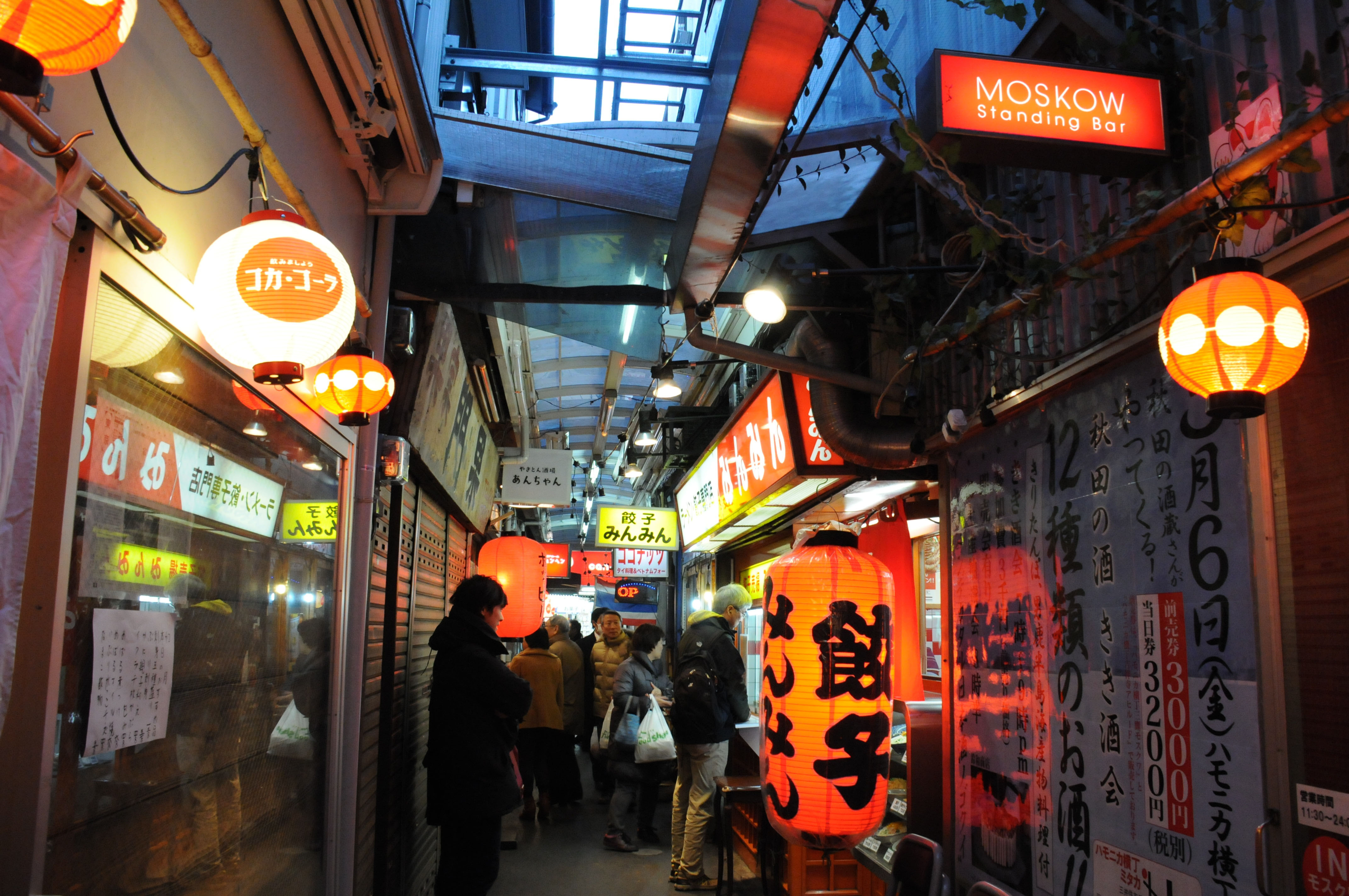 Hamonika Yokocho (Harmonica Alley) is crammed with shops, bars and