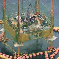 Government resumes drilling survey for Futenma replacement base in Okinawa