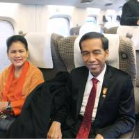 Indonesian president Jokowi takes bullet train ride as Japan looks to sell system