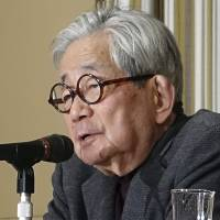 Nobel-winner Oe slams Abe, urges nation to follow Germany and quit nuclear power
