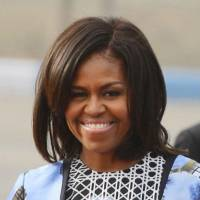 Michelle Obama arriving in Tokyo on Wednesday