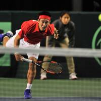 Nishikori does part on Day 1